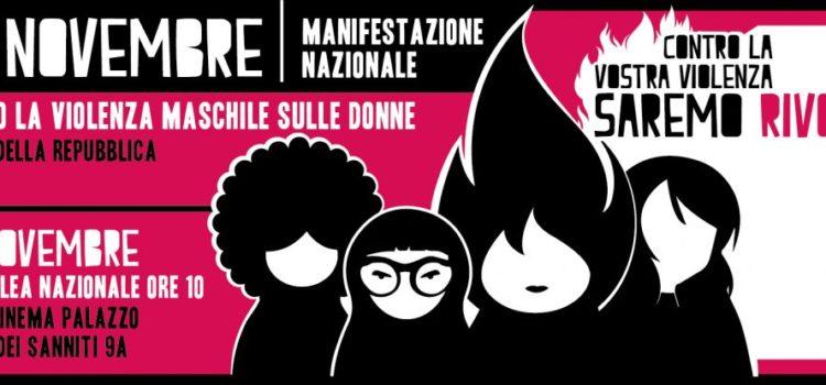 Manifestazione nazionale contro la violenza maschile sulle donne